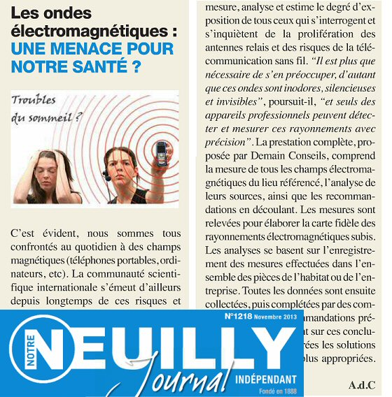 On parle de nous dans Neuilly Journal